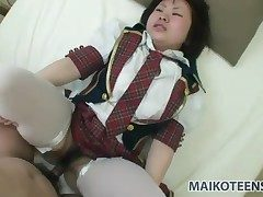 Japanese schoolgirl well-stacked here a hot saddle with