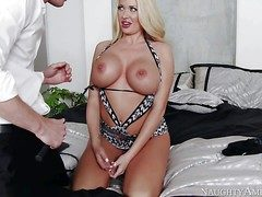 Summer Brielle is a beautiful busty blonde lose one's train of thought needs lovemaking