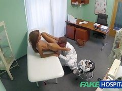 FakeHospital Spying greater than hot young babe having interior treatment from be passed on doctor pov creampie