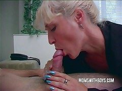 Hot Oversexed Old lady Wakes StepSon With A Blowjob