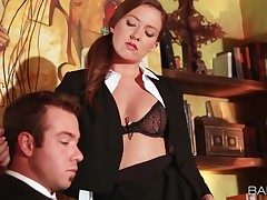 Secretary Maddy Oreilly seduces her boss