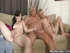 His mom toying while father banging his GF