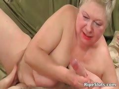 Obese full-grown blonde gets meaty pussy part2