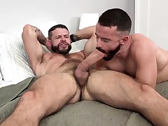 MANALIZED Brendan Patrick Finishes off While Strung up Man Fucks Him