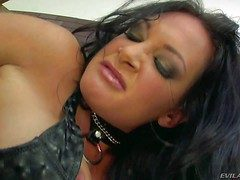 Black haired nasty milf Tory Lane with obese succulent hanker in get under one's neck